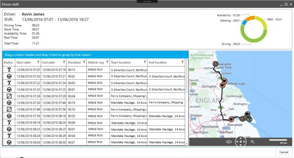 Mandata Drivers Hours enables you to add new collections and deliveries safely