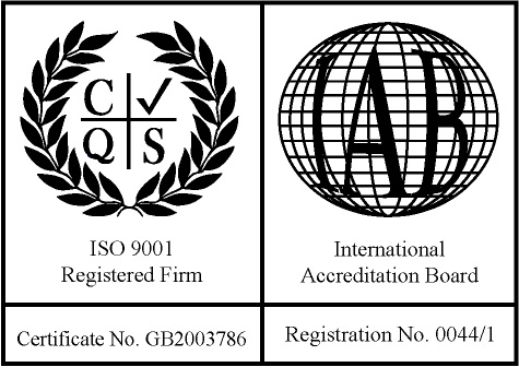 Mandata is ISO 9001 accredited