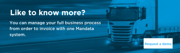 Manage your full business process from order to invoice with Mandata