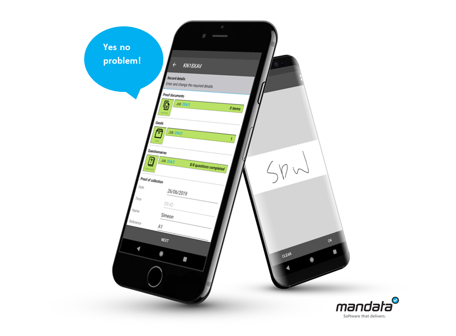 Mandata TMS with Manifest app for electronic proof of delivery and instant messaging