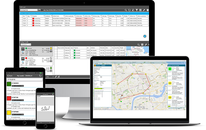 Road Transport Management Software for Haulage Operators including integrated mobile solutions