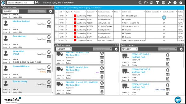 See jobs to do and allocate drivers by availability