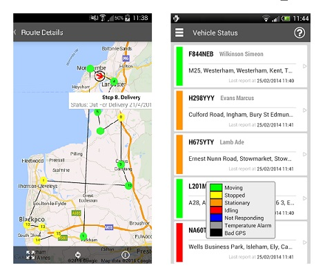 Hauliers and shippers can view Track and Trace app on the go
